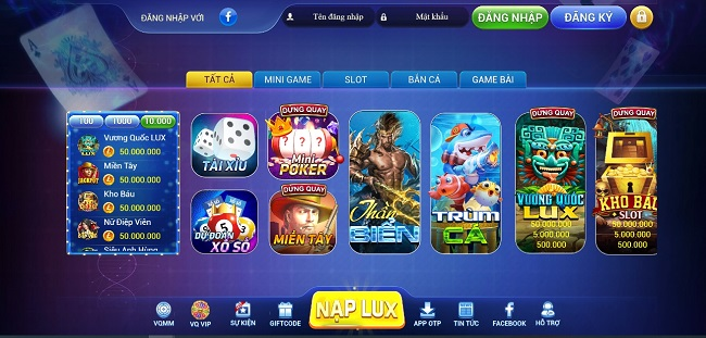 cổng game lux39 club